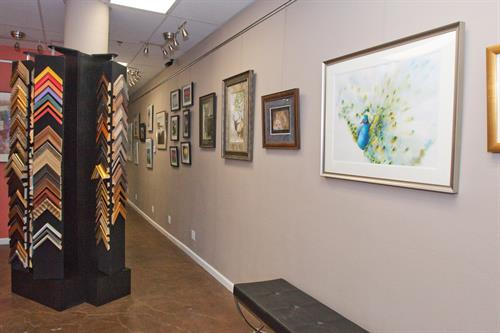 We display local artists work for sale and host receptions every 8 weeks to view the work.  These are open to the public.  Wine + hors d'oeuvres are served.