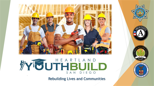 Heartland YouthBuild is a 501C3 non-profit dedicated to helping 16 to 24 year olds obtain their high school diploma while honing skills in construction and green building.