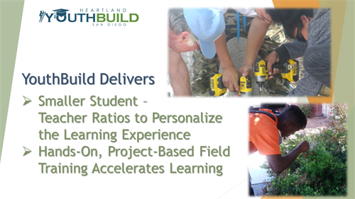YouthBuild offers smaller class sizes for accelerated learning.