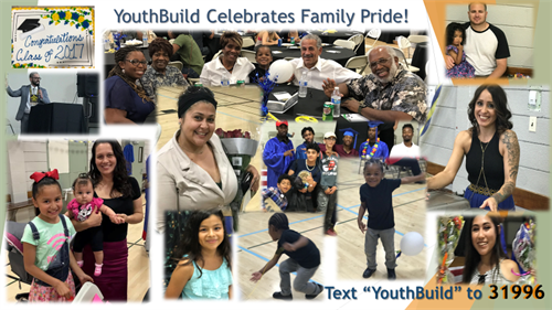 YouthBuild celebrates graduate families and volunteers.