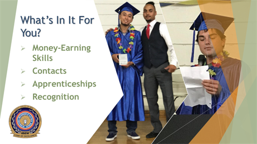 YouthBuild educates youth and fosters money-earning skills and apprenticeships.