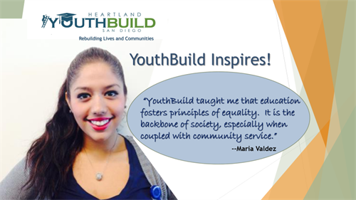 YouthBuild believes education fosters principles of equality and opportunity.