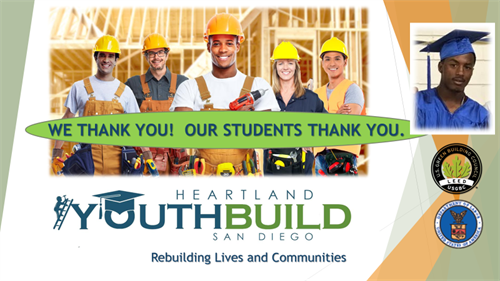 Help connect us to 16 to 24-year-old youth who can benefit from YouthBuild.  It's FREE!
