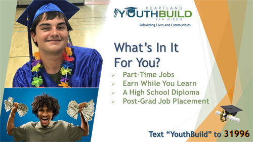 YouthBuild students 'earn while they learn.'