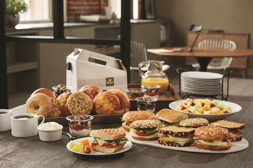 Start your meeting off right with a freshly baked spread from Panera!