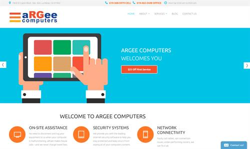 aRGee website design and development, print advertising.