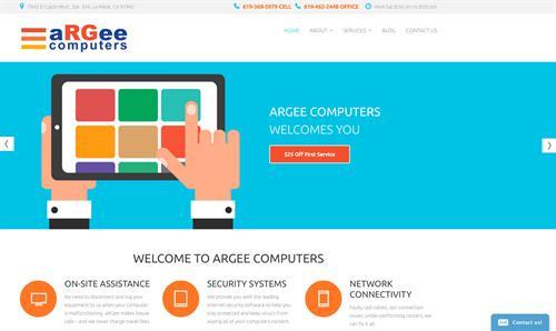 aRGee website design