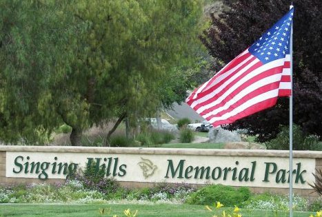 Entrance to Singing Hills Memorial Park