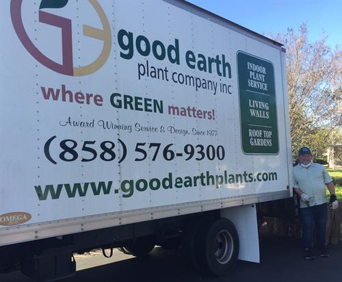 Client Good Earth Plant Company supporting frontline healthcare heroes at Sharp Grossmont Hospital with a donation of beautiful indoor plants for workers.