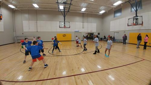 Club members enjoying physical activities in our Club gymnasiums.