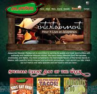 Jalapeno's Mexican Restaurant Web Design