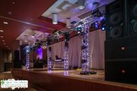 Blow your guests away with an impressive sound system and lightshow!
