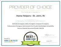 Awarded Provider of Choice for 2017