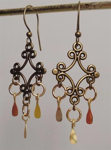 Handcrafted Viking style earrings worn on the Vikings Series on the History Channel