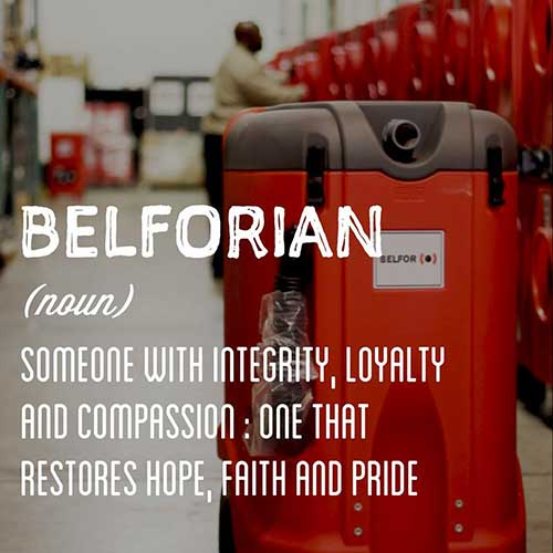 At BELFOR we restore hope...........