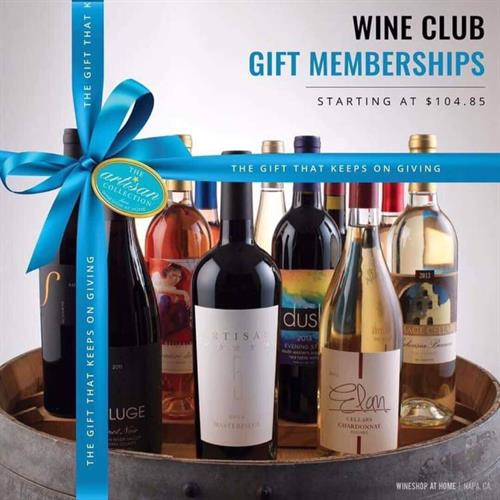 Premier Wine Club - 2 or 4 bottle monthly memberships