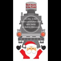Santa and Train in Downtown Hartford 2019