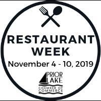 Restaurant Week- Wednesday, November 6