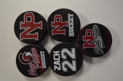 Custom Team Hockey Pucks!  Get them custom made for your team!