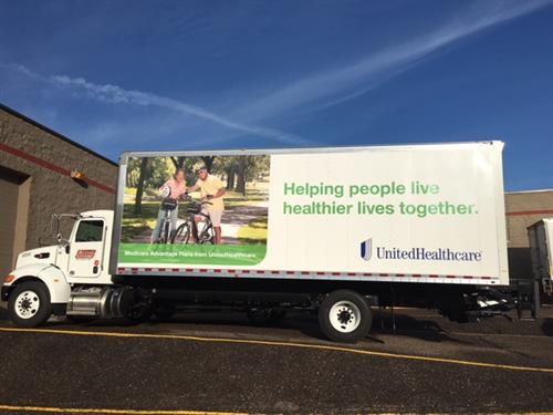 Truck Wrap - This is a great way to make a big impact for your business!  We can help you get noticed when you are on the move!