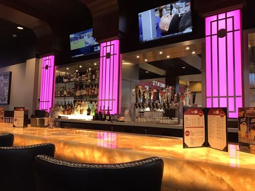 Our Take 5 lounge features a full menu and bar!  The best part?  You don't need a movie ticket to enjoy!