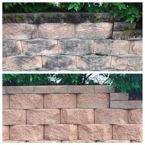 Keystone Retaining Wall Cleaning