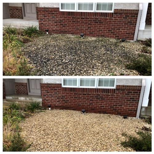Landscape Rock Cleaning