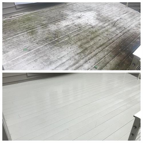 Vinyl Deck Cleaning