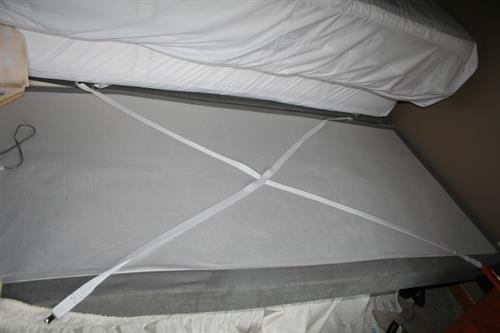 Simply install on your box spring or flat surface.
