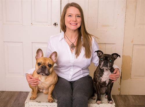 Owner Alysha with her dogs Rocky and Olive