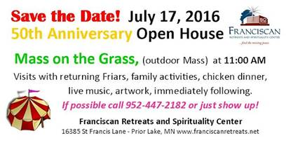 Come celebrate our 50th anniversary, July 17, 2016