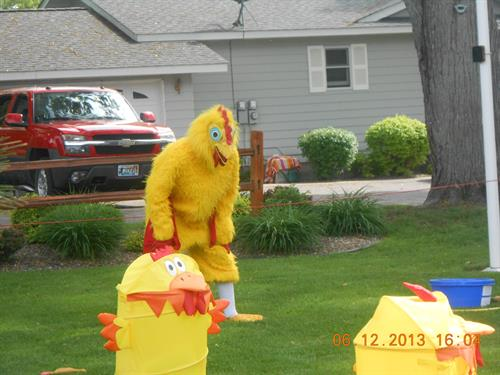 The Tossing of the Chickens with Charlie the Chicken !