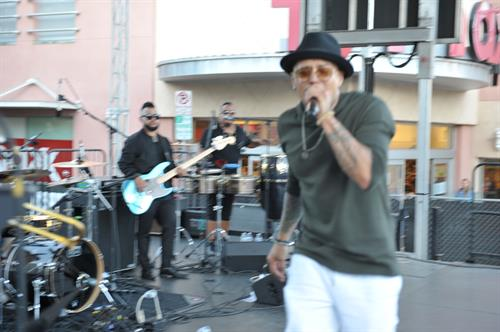 Andy Vargas performing at 29th Annual Street Fair