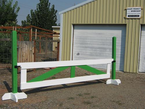 "(24""x10' gate jump on 5' schooling standards - custom paint)"