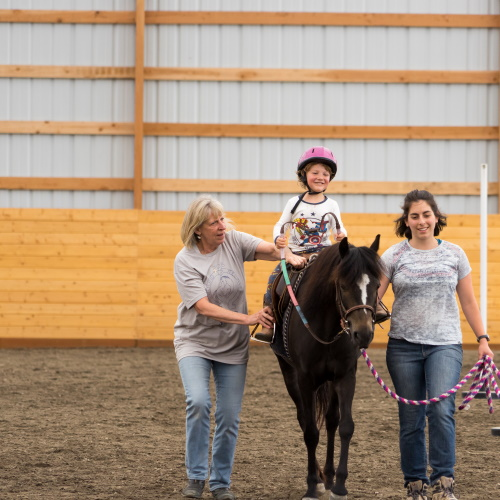 Our Inclusive Riding Program welcomes riders ages 4 and older, and of all abilities and experience levels.