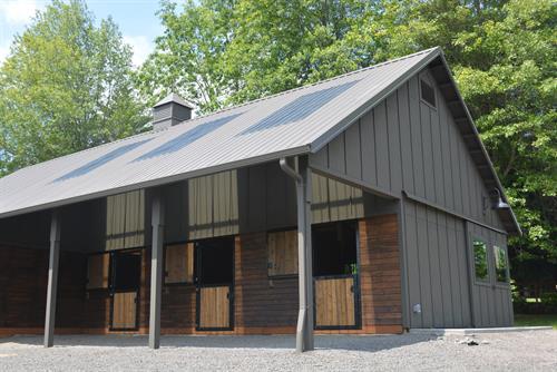 Three stall personal barn