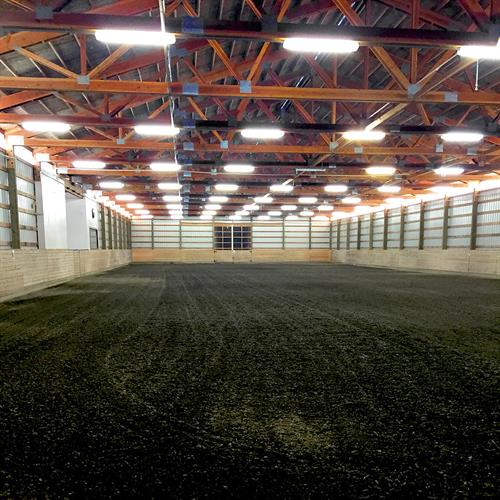 Indoor arena at our facility