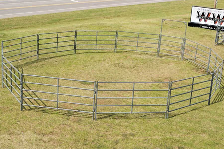 The RIATA series of gates and panels are designed specifically for the equine industry, but also make a great utility pen for cattle.