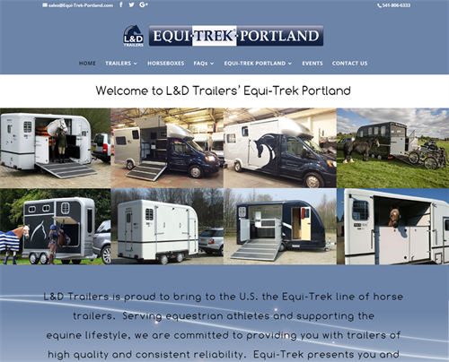 Website remodel for L&D Trailers. Built much stronger SEO, plus developed booth display materials.