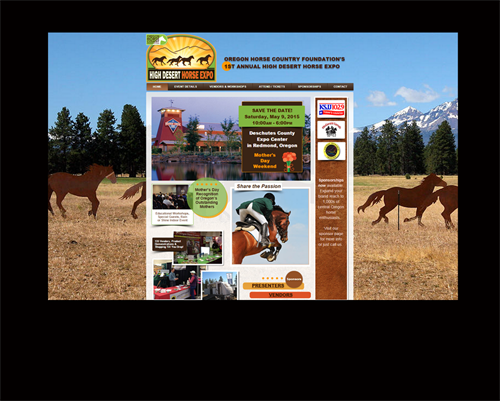 Be sure to visit the HighDesertHorseExpo.com website. So much fun to develop and what a great event!
