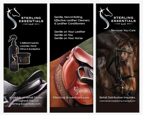Designed a whole set of booth display materials for Sterling Essentials