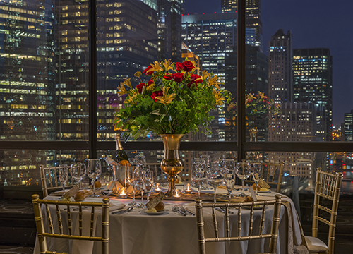 Floor-to-ceiling windows in the Wolf Point Ballroom
