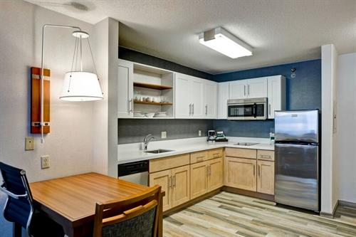 Full kitchen in every room! All rooms are suites!