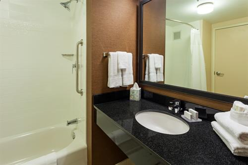 Fairfield Inn & Suites Guest Bathroom