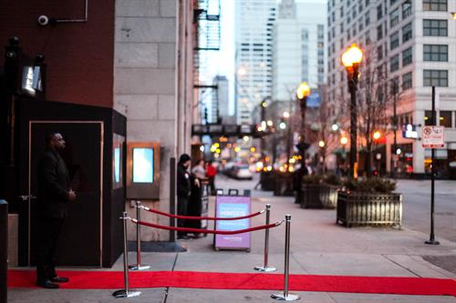 Ask about Added Amenities, like this VIP Red Carpet Entrance.