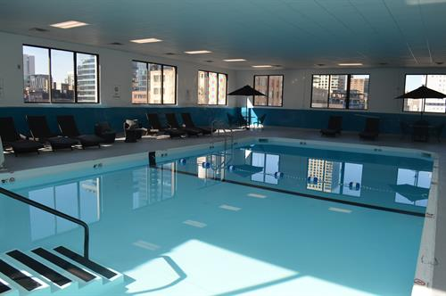 Indoor heated pool open daily 6AM - 10PM