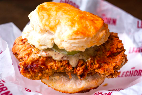Fried Chicken on a Biscuit