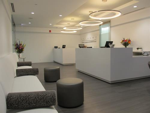 Our modern waiting room at new location, 515 N State, Ste. 900!