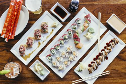 Join us for HALF PRICE SUSHI daily from 3pm-6pm!