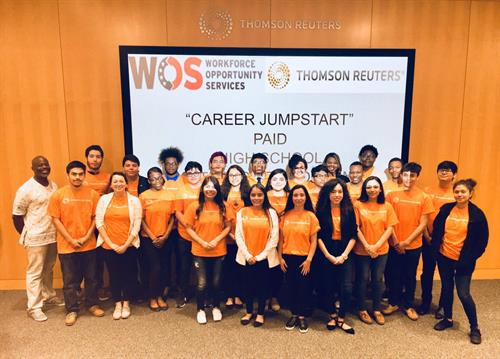 "#repost @jen_idrizi ""thomsonreuters was honored to host these bright Dallas high school students in our diversity internship program! #workingattr"""